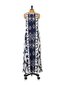 Aztec Print Maxi Dress - Femella