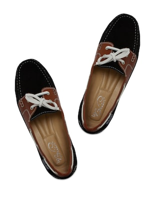 Black and Brown Lacy Loafers -  online shopping for Moccasins