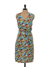 Multi-coloured Floral Printed Dress - Bluebery D C