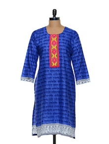 Blue Printed Kurti - Awesome