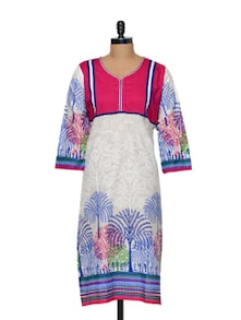White And Pink Kurti - Awesome