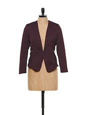 WINE RED COAT - By