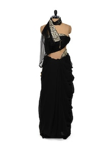 Sexy Black Saree - Get Style At Home