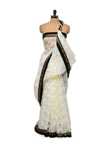 Lace White Saree - Get Style At Home