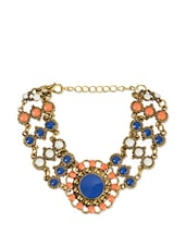 Multicoloured Beaded Flower Chain Bracelet - Fayon