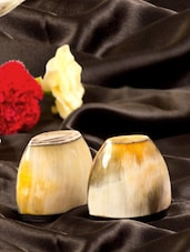 Full Buffalo Horn Designer Salt Pepper Shaker - ARM'S