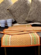 Bamboo Mat Orange Set Of 6 Pcs & 1 Pc Runner - ARM'S