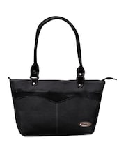 Black Strap Grey Office Handbag - FOSTELO