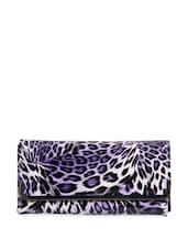 Animal Print Faux Leather Clutch - Lalana