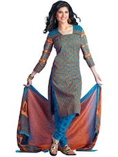 Unstitched Cotton Dress Material - Ethnic Vibe