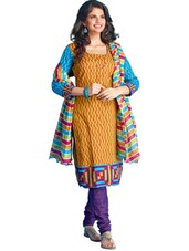 Colorful Unstitched Dress Material - Ethnic Vibe