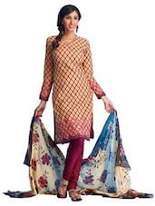 Floral Print Unstitched Dress Material - Ethnic Vibe