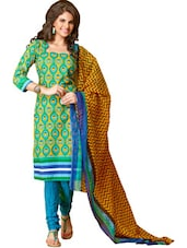 Elegant Unstitched Dress Material - Ethnic Vibe