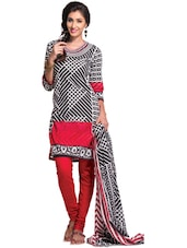 Multi Printed Unstitched Dress Material - Ethnic Vibe