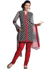 Polka Dot Print Dress Material - Ethnic Vibe