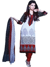 Colorful Printed Dress Material - Ethnic Vibe