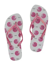 Smiley Face Rubber Flip Flops - Younky