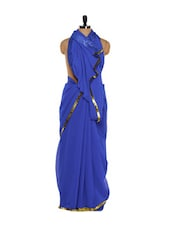 Royal Blue Shimmery Saree - Get Style At Home