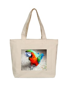 Colourful Parrot Canvas Tote Bag - OXA