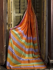 Orange Matka Silk Saree - Cotton Koleksi