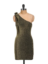 Shimmery Tie-detail Evening Dress - Ruby