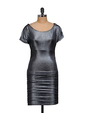 Shimmery Silver-black Evening Dress - Ruby