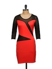 Daringly Cut Red Dress - Ruby
