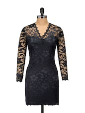 Sizzling Black Lace Dress - Ruby