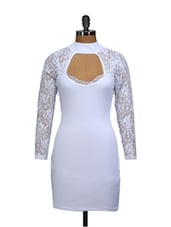 Intoxicating Lace White Dress - Ruby