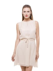 Nude flirty georgette dress available at Limeroad for Rs.499