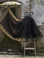 Mustard Yellow Saree With Gheecha Weave - Cotton Koleksi