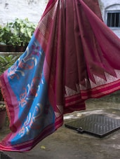 Resham Saree With Pataka Border - Cotton Koleksi