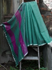Green Resham Saree - Cotton Koleksi