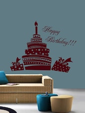 Happy Birthday Wall Art ( Brown ) - DeStudio