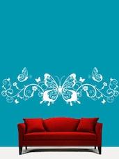 Butterflies N Swirls Wall Art ( White ) - DeStudio