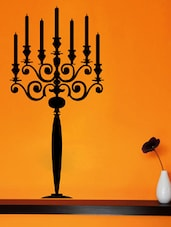 Candle Stand Wall Deca Wall Art ( Black ) - DeStudio