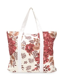 White Floral Tote Bag - Art Forte