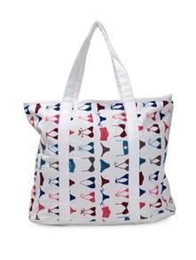 White Bikini Print Tote Bag - Art Forte