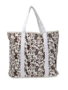 White And Brown Tote Bag - Art Forte