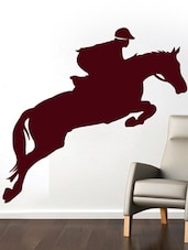 Horse Riding Wall Art ( Brown ) - DeStudio