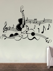 Love For Guitar Wall Art ( Black ) - DeStudio