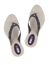 Pretty Black And Purple Sandals - Yepme