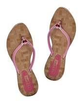 Baby Pink Double Strap Flats - Yepme