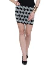 Vintage Wave Embroidered Knit Skirt Cum Top - N-Gal