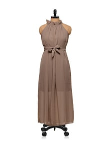 Brown  Maxi Dress - Being Fab