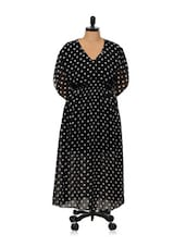 Black Polka Dot Dress - Being Fab