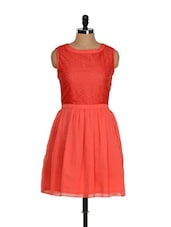 Peppy Coral Red Dress - Eavan