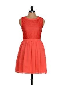 Peppy Coral Red Dress - Eavan