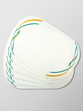 Multicolor Vitrelle Glass Printed Placemat -  online shopping for home & decor