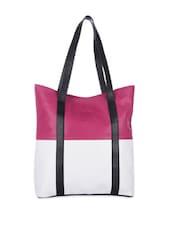 Pink And White Classy Tote - Eavan